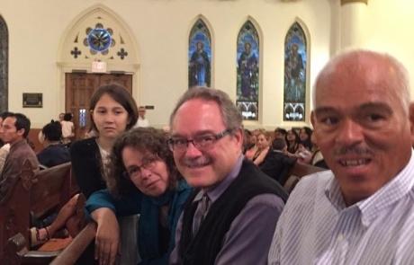 Lori, Mitch, Jose, Niraya at Baptism May 16, 2015