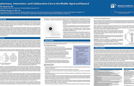 Research Poster: Polypharmacy, Interactions, and Collaborative Care in the Middle-Aged and Beyond